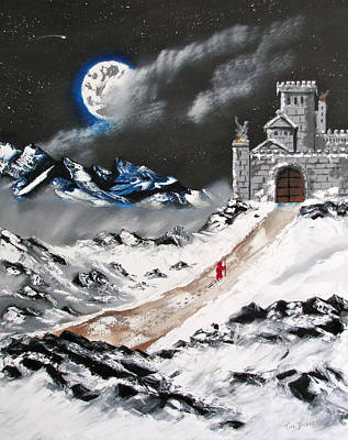 Snow Fort Painting - In From The Cold by Tim Dobert
