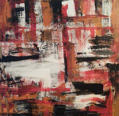 Bayou Abstract Painting - In Front by Esther Jones