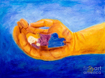 Painting - In God's Hand by Jutta B