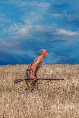 Huron Indian Digital Art - In Golden Fields by Randy Steele