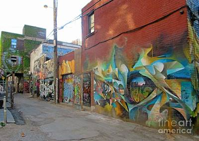 Streetscape Mixed Media - In Graffiti Alley by John Malone