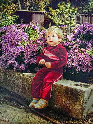 Photograph - In Granny's Garden by Hanny Heim