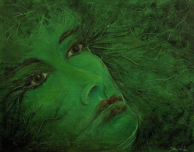 Painting - In Green Entanglement by Tona Williams