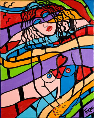 Painting - In Harmony by Treza Bettencourt
