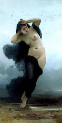 Mixed Media - In Her Dreams She Flees The Night by Georgiana Romanovna