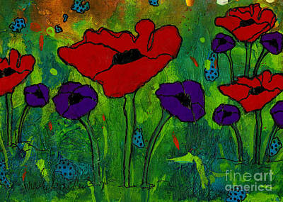 Mixed Media - In Her Garden by Angela L Walker