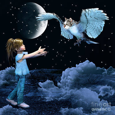 Digital Art - In Her Imagination by Jutta Maria Pusl