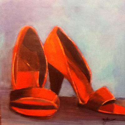 Painting - In Her Shoes by Janet Visser