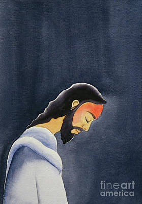 Deliverance Painting - In His Agony Jesus Prays In Gethsemane To His Father by Elizabeth Wang