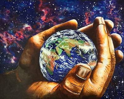 Painting - In His Hands by David Rhys