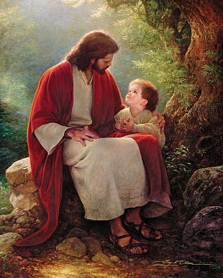 Prayer Painting - In His Light by Greg Olsen