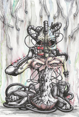 Chimpanzee Mixed Media - In His Own Image by Tai Taeoalii