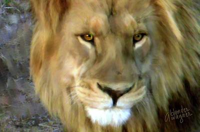 Lion Digital Art - In His Sights by Arline Wagner