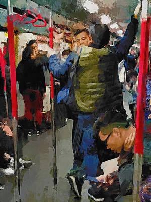 Digital Art - in Hong Kong MTR by Yury Malkov