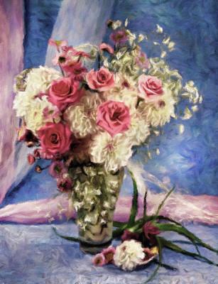 Mixed Media - In Honor Of Renoir Still Life Impressionism by Georgiana Romanovna