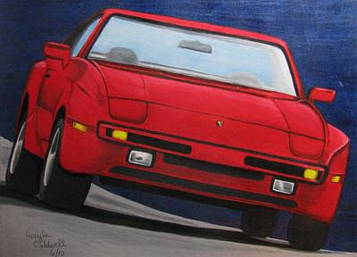 Porsche Drawing - In Its Day by Gayle Caldwell