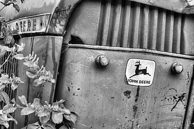 Photograph - In John Deere Greene Bw by JC Findley