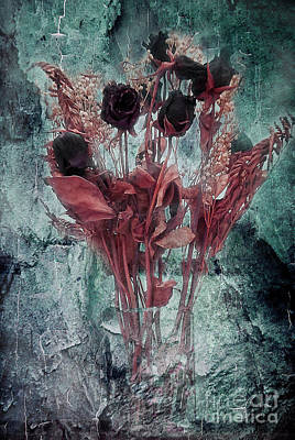 Photograph - In Light Of Sadness Bouquet Dark Side by Janie Johnson