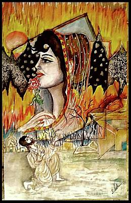 Syeda Ishrat Painting - 'in Love Laila Majnu' by Syeda Ishrat