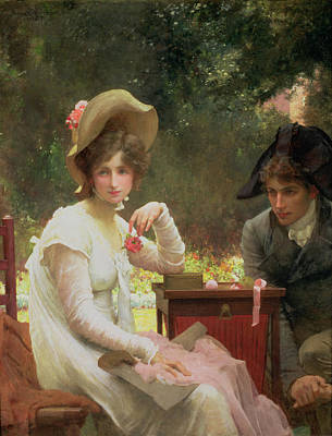1907 Painting - In Love by Marcus Stone