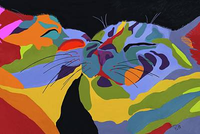 Felines Painting - In Love by Patti Siehien