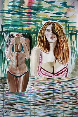 Painting - In Love. by Shlomo Zangilevitch
