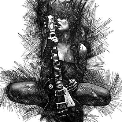 Digital Art - In Love With Music  by Rafael Salazar