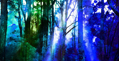 Fir Trees Digital Art - In Love With Nature by Phill Petrovic