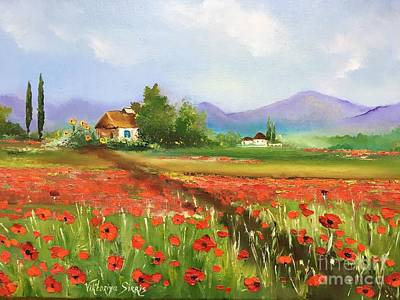 In Love With Toscana's Poppies Art Print by Viktoriya Sirris