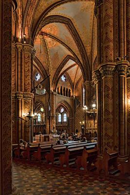 Photograph - In Matthias Church by Sharon Popek