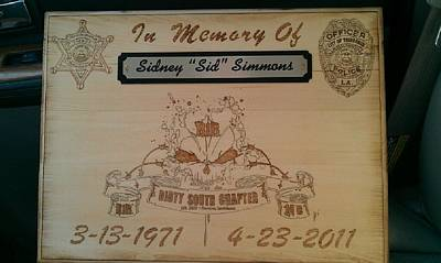 John Pitre Pyrography - In Memory Of Sidney Simmons by John Pitre