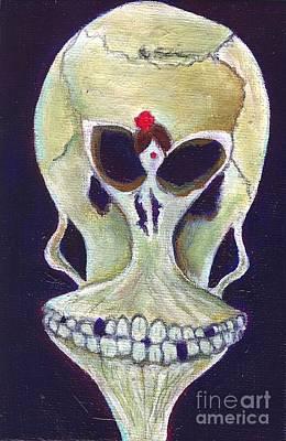 In My Deaths Head Print by Ricky Sencion