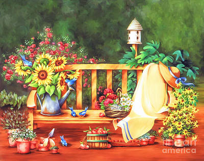 Painting - In My Garden by Shirley Stalter
