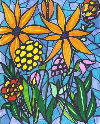 Mixed Media - In My Garden by Wayne Potrafka
