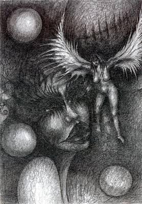 Creativity Drawing - In My Head by Wojtek Kowalski