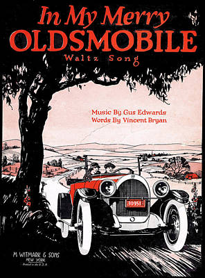 Old Sheet Music Photograph - In My Merry Oldsmobile by Mel Thompson