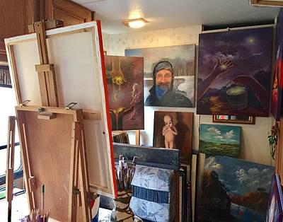 Painting - In My Studio by Randol Burns