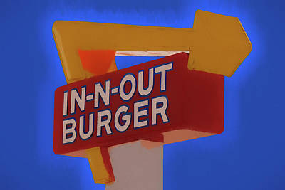 Mixed Media - In N Out Burger Sign by Dan Sproul