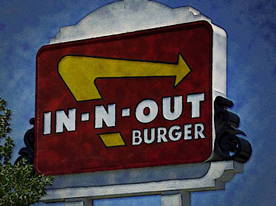 In-n-out Art Print by Ricky Barnard