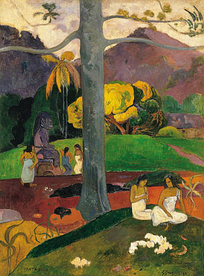 Painting - In Olden Times by Paul Gauguin