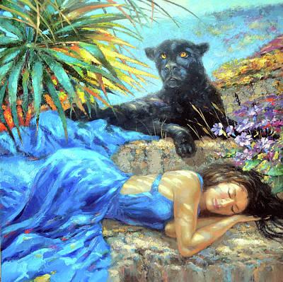 Chichen Itza Painting - In One's Sleep by Dmitry Spiros