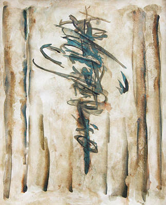 Painting - In Opening A Scroll Of Memories by Terrance DePietro