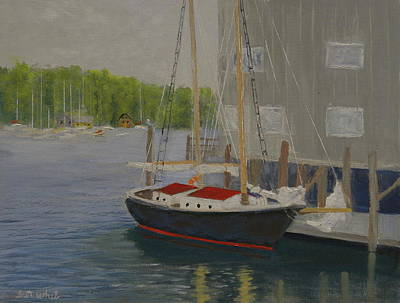 Painting - In Port by Scott W White