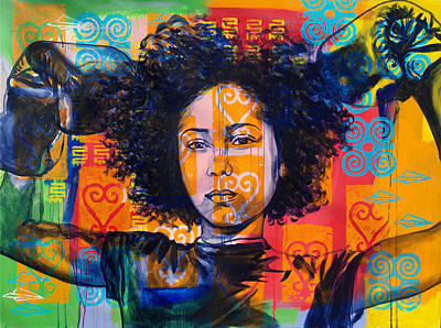 Wall Art - Painting - In Power/ Empower by Clayton Singleton