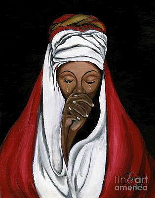 Crying Painting - In Prayer  by Toni  Thorne