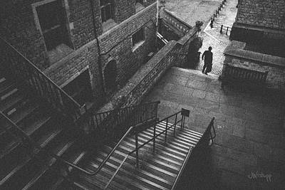 Paving Photograph - In Pursuit Of The Devil On The Stairs by Joseph Westrupp