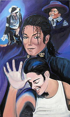 Michael Jackson Painting - In Remembrance by Toni  Thorne