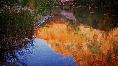 Photograph - Virgin River Reflection, Zion Np by Flying Z Photography by Zayne Diamond