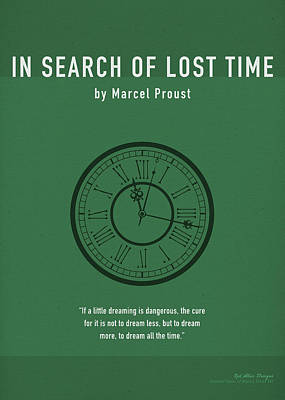 Searching Mixed Media - In Search Of Lost Time Greatest Books Ever Series 007 by Design Turnpike