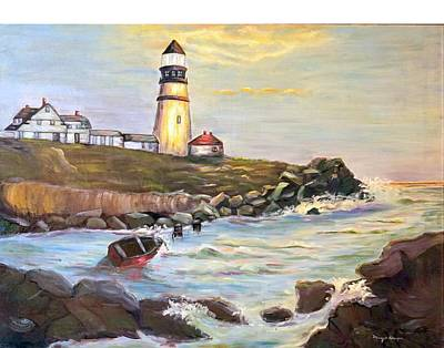 Painting - In Search Of Portland Maine Harbor By Mary Krupa by Mary Krupa
